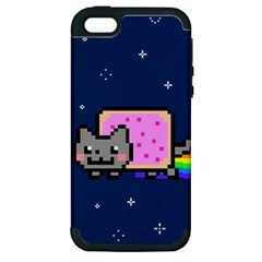 Nyan Cat Apple Iphone 5 Hardshell Case (pc+silicone) by Onesevenart