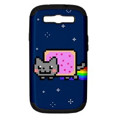 Nyan Cat Samsung Galaxy S Iii Hardshell Case (pc+silicone) by Onesevenart