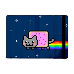 Nyan Cat Apple Ipad Mini Flip Case by Onesevenart
