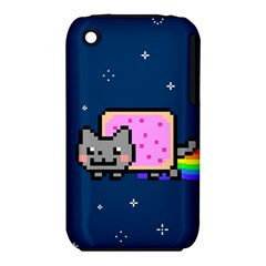 Nyan Cat Apple Iphone 3g/3gs Hardshell Case (pc+silicone) by Onesevenart