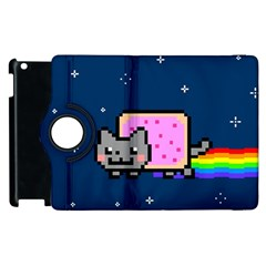 Nyan Cat Apple Ipad 3/4 Flip 360 Case by Onesevenart