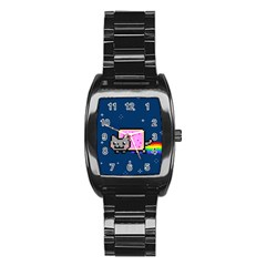 Nyan Cat Stainless Steel Barrel Watch by Onesevenart