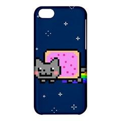 Nyan Cat Apple Iphone 5c Hardshell Case by Onesevenart