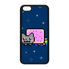 Nyan Cat Apple Iphone 5c Seamless Case (black) by Onesevenart
