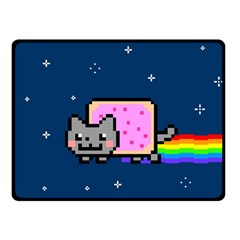 Nyan Cat Double Sided Fleece Blanket (small)  by Onesevenart