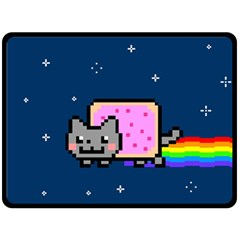 Nyan Cat Double Sided Fleece Blanket (large)  by Onesevenart