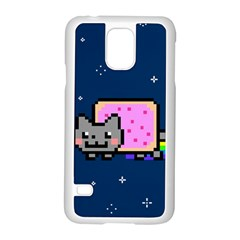 Nyan Cat Samsung Galaxy S5 Case (white) by Onesevenart
