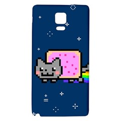 Nyan Cat Galaxy Note 4 Back Case by Onesevenart