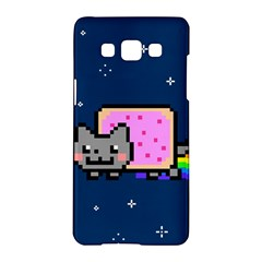 Nyan Cat Samsung Galaxy A5 Hardshell Case  by Onesevenart
