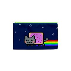 Nyan Cat Cosmetic Bag (xs) by Onesevenart