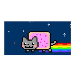 Nyan Cat Satin Wrap by Onesevenart
