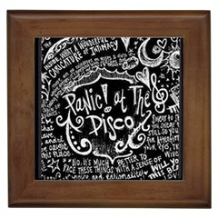 Panic ! At The Disco Lyric Quotes Framed Tiles by Onesevenart