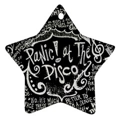 Panic ! At The Disco Lyric Quotes Ornament (star)  by Onesevenart