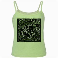 Panic ! At The Disco Lyric Quotes Green Spaghetti Tank by Onesevenart