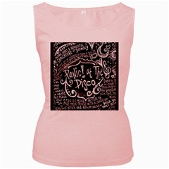 Panic ! At The Disco Lyric Quotes Women s Pink Tank Top by Onesevenart