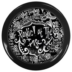 Panic ! At The Disco Lyric Quotes Wall Clocks (black) by Onesevenart