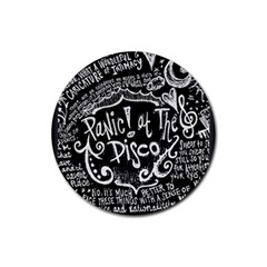Panic ! At The Disco Lyric Quotes Rubber Round Coaster (4 Pack)  by Onesevenart