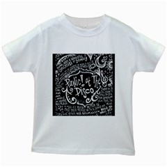 Panic ! At The Disco Lyric Quotes Kids White T Shirts by Onesevenart