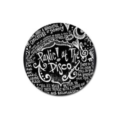 Panic ! At The Disco Lyric Quotes Magnet 3  (round) by Onesevenart