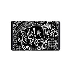 Panic ! At The Disco Lyric Quotes Magnet (name Card) by Onesevenart