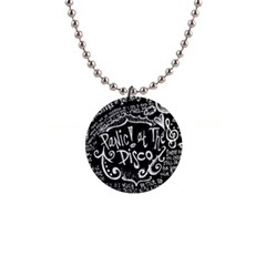 Panic ! At The Disco Lyric Quotes Button Necklaces by Onesevenart