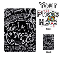 Panic ! At The Disco Lyric Quotes Playing Cards 54 Designs  by Onesevenart