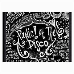 Panic ! At The Disco Lyric Quotes Collage Prints by Onesevenart