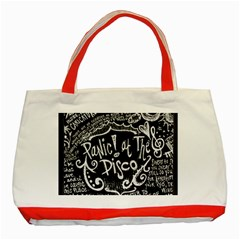 Panic ! At The Disco Lyric Quotes Classic Tote Bag (red) by Onesevenart