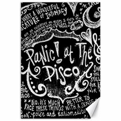Panic ! At The Disco Lyric Quotes Canvas 12  X 18   by Onesevenart