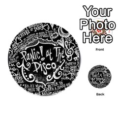 Panic ! At The Disco Lyric Quotes Playing Cards 54 (round)  by Onesevenart