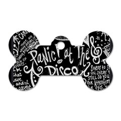 Panic ! At The Disco Lyric Quotes Dog Tag Bone (one Side) by Onesevenart