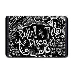 Panic ! At The Disco Lyric Quotes Small Doormat  by Onesevenart