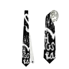 Panic ! At The Disco Lyric Quotes Neckties (one Side)  by Onesevenart