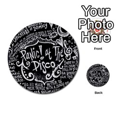 Panic ! At The Disco Lyric Quotes Multi Purpose Cards (round)  by Onesevenart