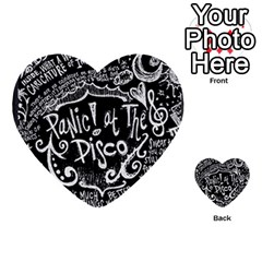 Panic ! At The Disco Lyric Quotes Multi Purpose Cards (heart)  by Onesevenart