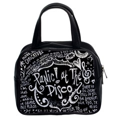 Panic ! At The Disco Lyric Quotes Classic Handbags (2 Sides) by Onesevenart