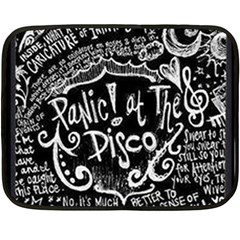 Panic ! At The Disco Lyric Quotes Double Sided Fleece Blanket (mini)  by Onesevenart