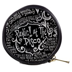 Panic ! At The Disco Lyric Quotes Mini Makeup Bags by Onesevenart