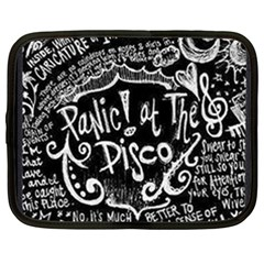 Panic ! At The Disco Lyric Quotes Netbook Case (xxl)  by Onesevenart
