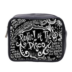 Panic ! At The Disco Lyric Quotes Mini Toiletries Bag 2 Side by Onesevenart
