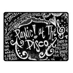 Panic ! At The Disco Lyric Quotes Fleece Blanket (small) by Onesevenart