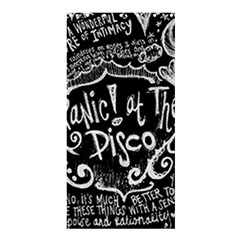 Panic ! At The Disco Lyric Quotes Shower Curtain 36  X 72  (stall)  by Onesevenart