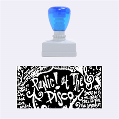 Panic ! At The Disco Lyric Quotes Rubber Stamps (medium)  by Onesevenart