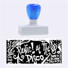 Panic ! At The Disco Lyric Quotes Rubber Stamps (large) by Onesevenart