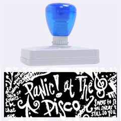 Panic ! At The Disco Lyric Quotes Rubber Address Stamps (xl) by Onesevenart