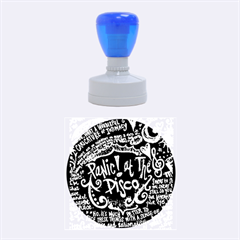 Panic ! At The Disco Lyric Quotes Rubber Round Stamps (medium) by Onesevenart