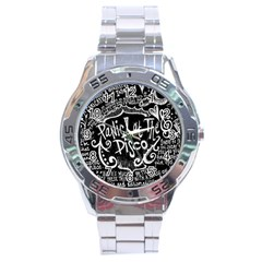 Panic ! At The Disco Lyric Quotes Stainless Steel Analogue Watch by Onesevenart