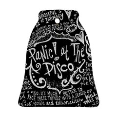 Panic ! At The Disco Lyric Quotes Bell Ornament (2 Sides) by Onesevenart
