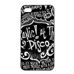 Panic ! At The Disco Lyric Quotes Apple Iphone 4/4s Seamless Case (black) by Onesevenart