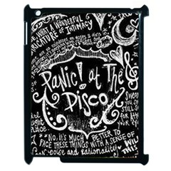 Panic ! At The Disco Lyric Quotes Apple Ipad 2 Case (black) by Onesevenart
